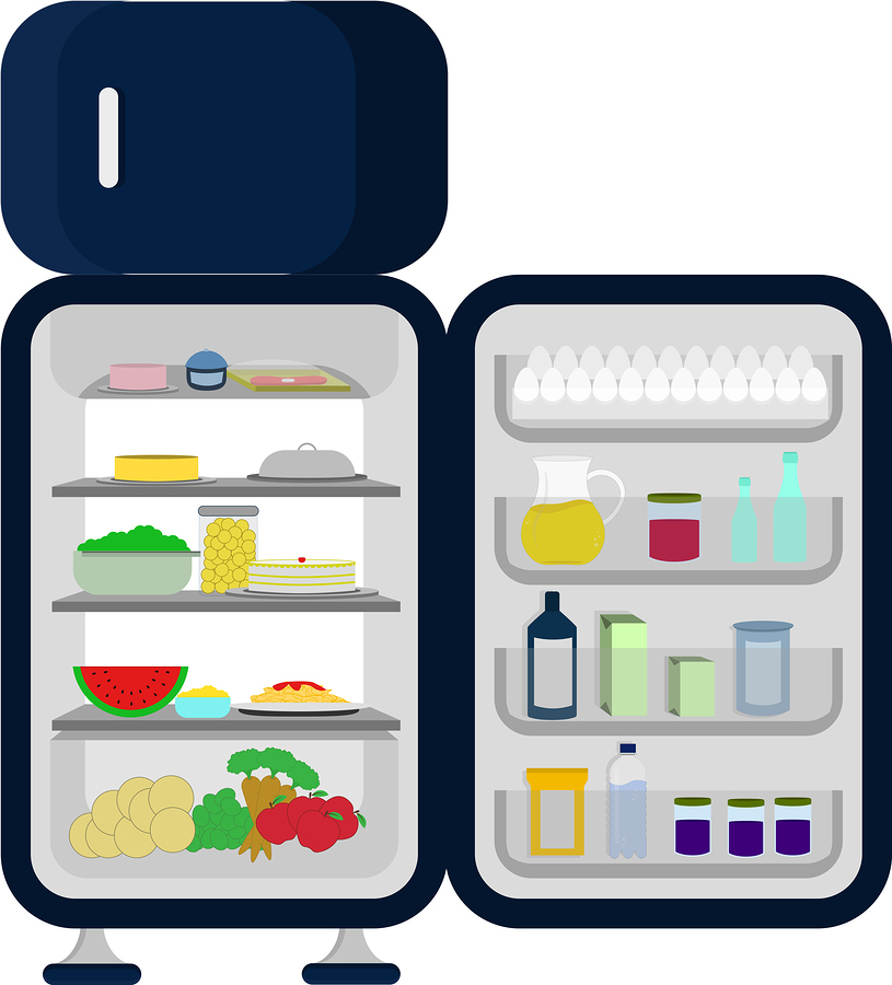 Moving a refrigerator can be daunting. Be sure to empty it first!