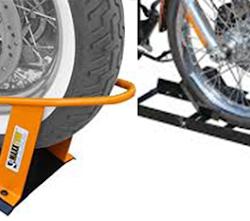 A motorcycle wheel chock