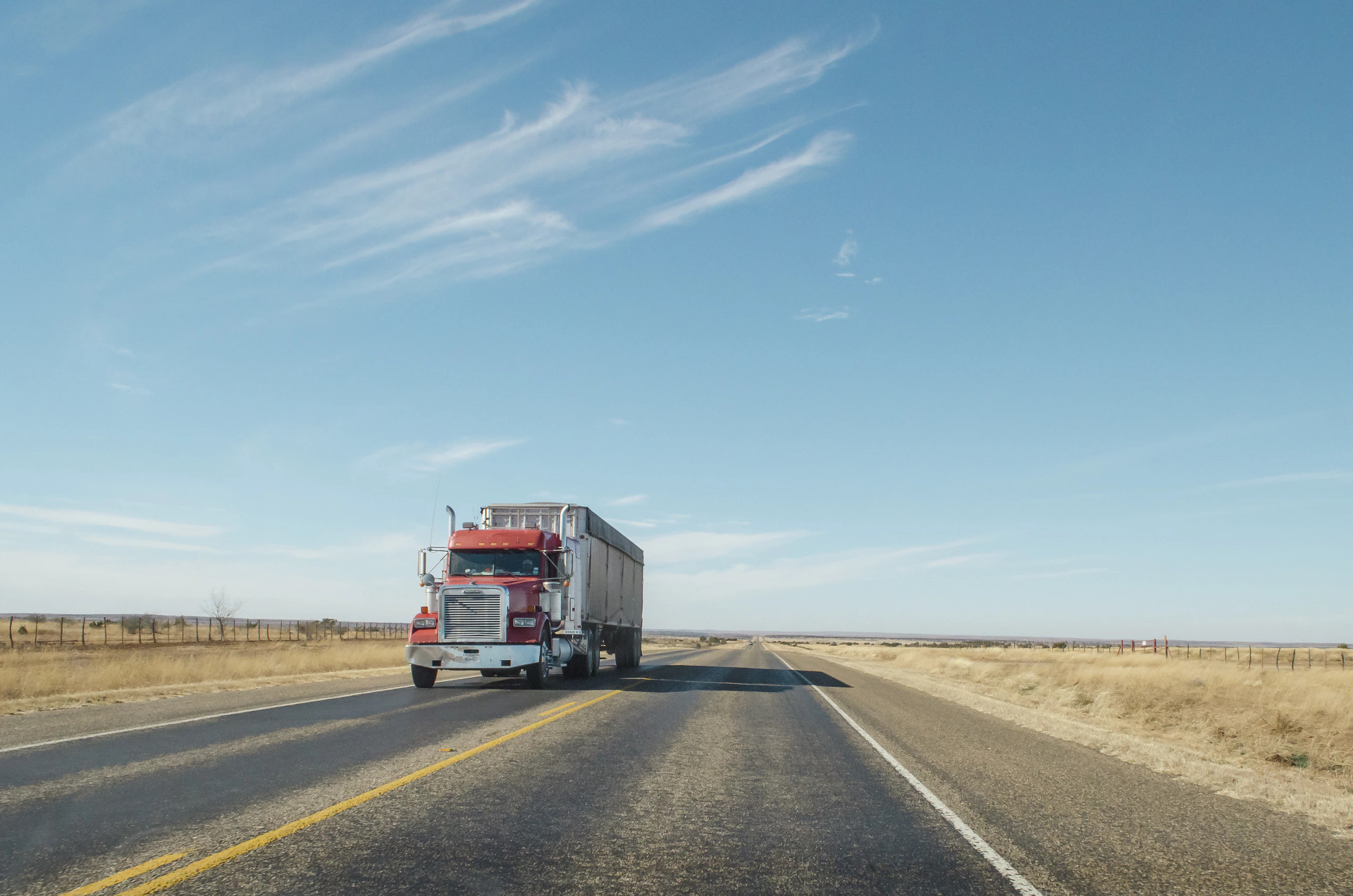 A truck on the road