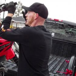How do you load a dirt bike without a ramp?