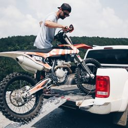 How to unload a bike off a pickup truck? | Citizenshipper