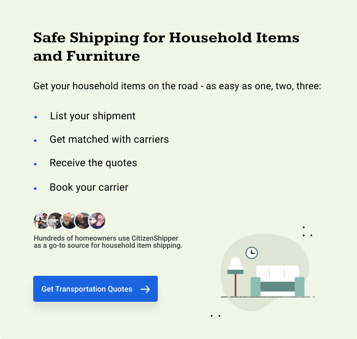 Safe Shipping for Household Items and Furniture