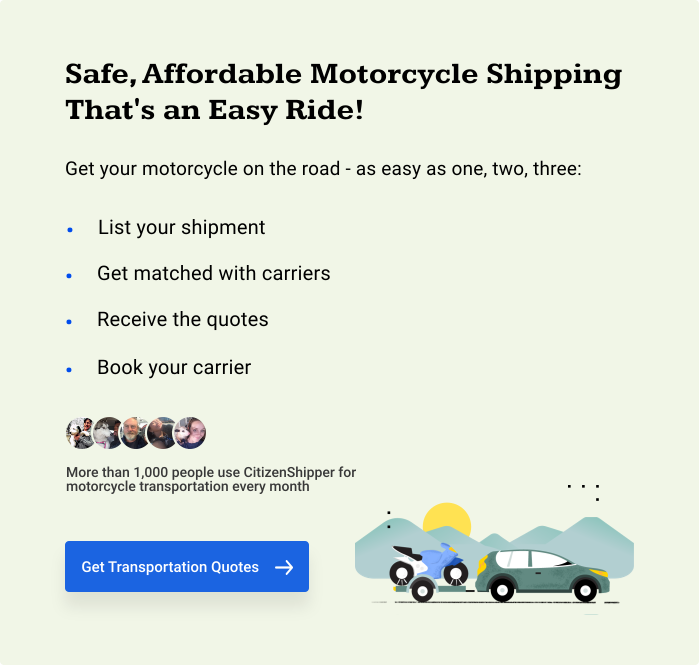 Safe, Affordable Motorcycle Shipping