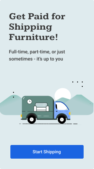 Get Paid for Shipping Household Items and Furniture