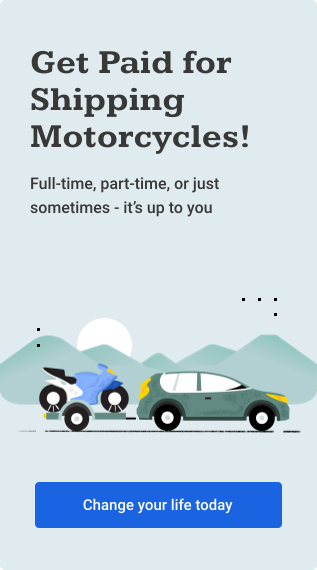 Get Paid for Shipping Motorcycles