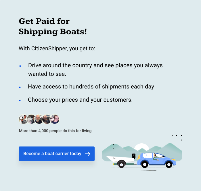 Get Paid for Shipping Boats