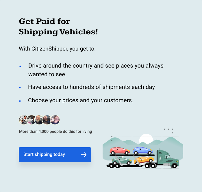 Get Paid for Shipping Vehicles