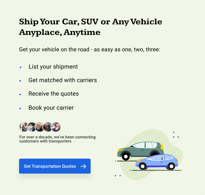 Ship Your Car, SUV, or Any Vehicle