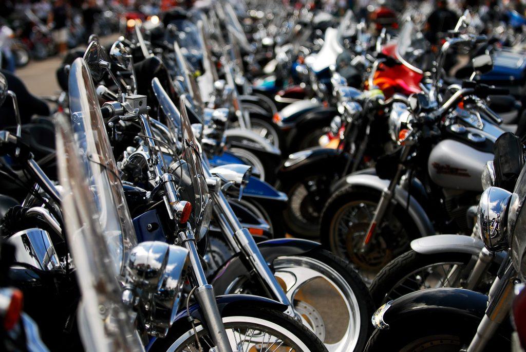 Custom motorcycles at Sturgis motorcycle Rally