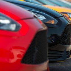 Cars parked on a dealer's parking lot